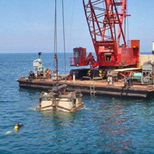Renforcement de la digue d'Oran bloc BCR 40T