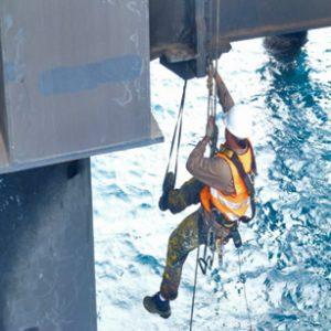 Cordistes exécutants des travaux sur corde Projet Ammonia